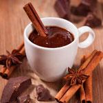 Кофе с шоколадом и корицей