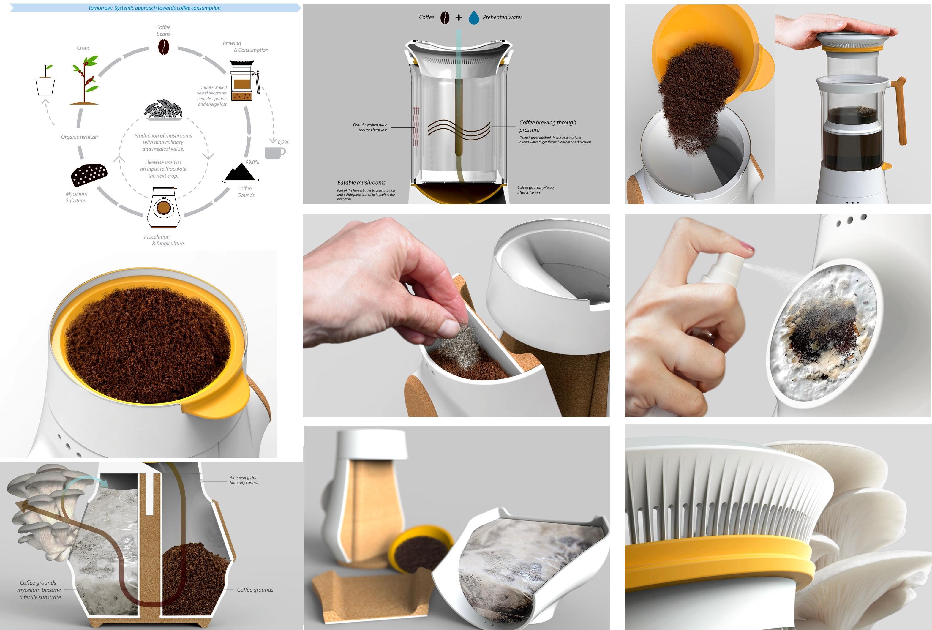кофемашина с функцией выращивания грибов